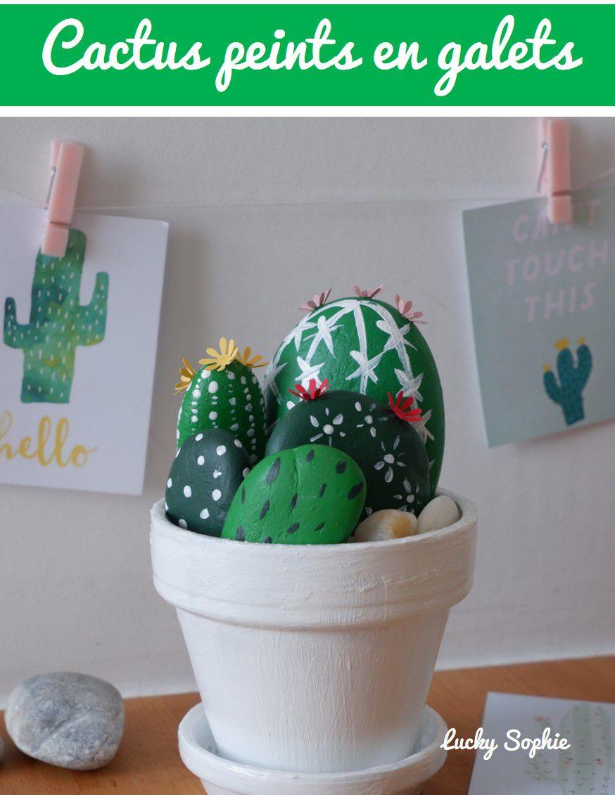 Des cactus en galets DIY