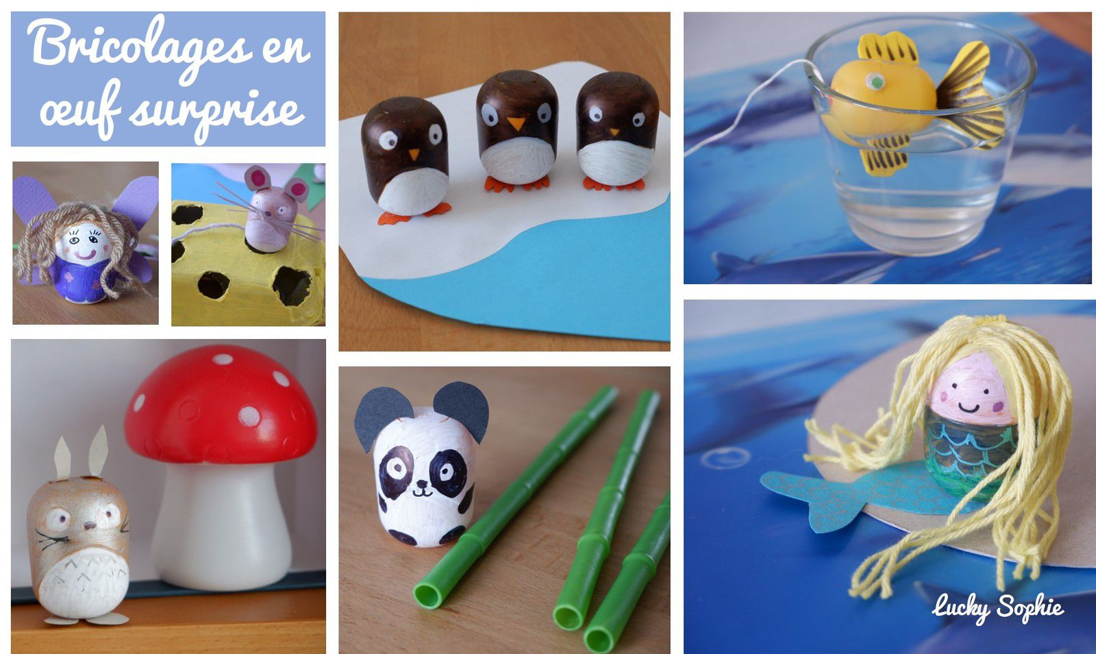 Bricolages en oeuf Kinder surprise