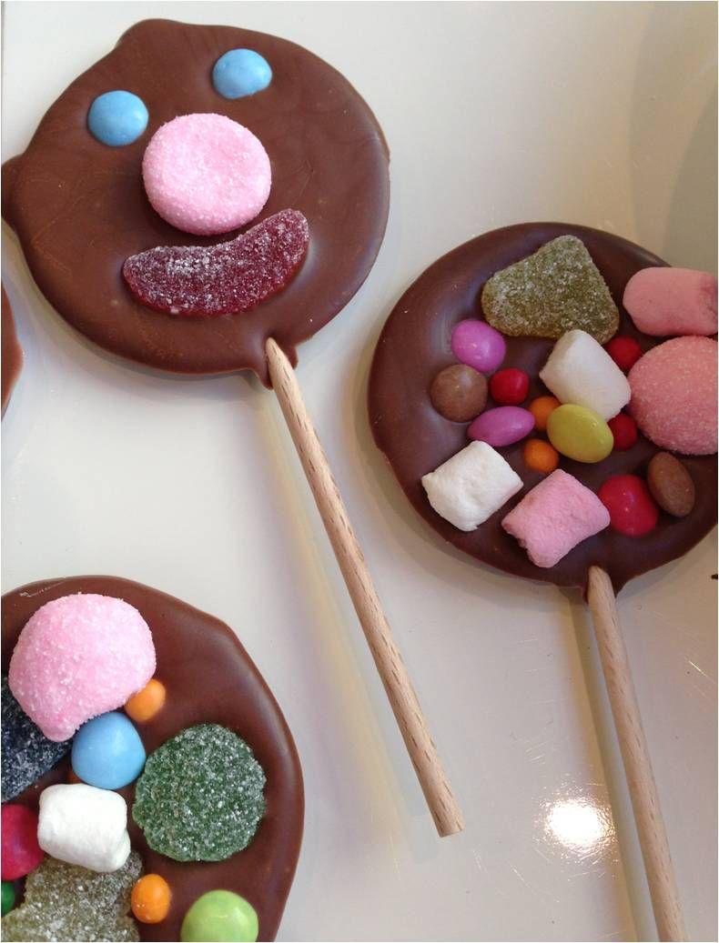 Sucettes chocolat-bonbons !