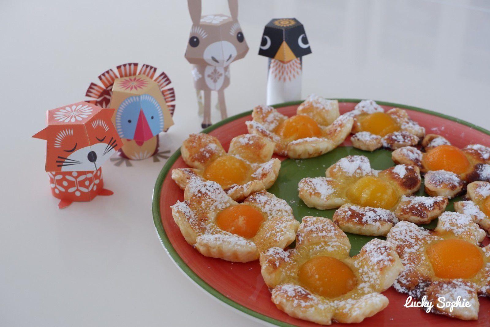 Tartelette fleur amandes - abricot