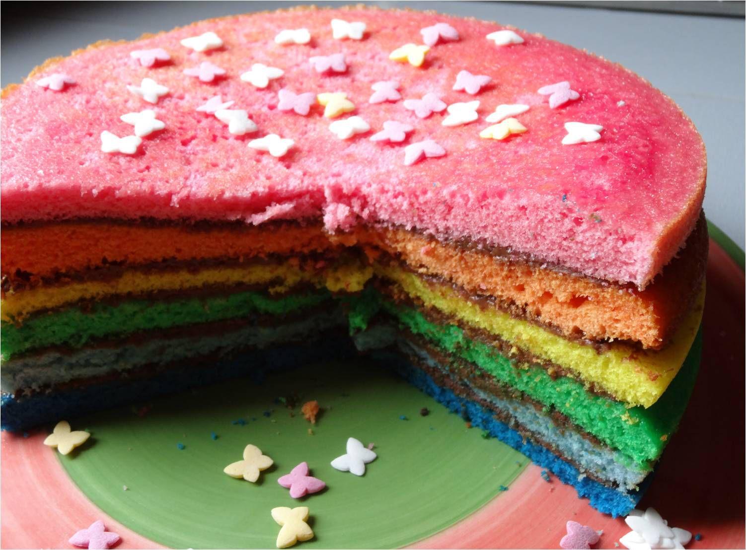Rainbow Cake au Nutella...
