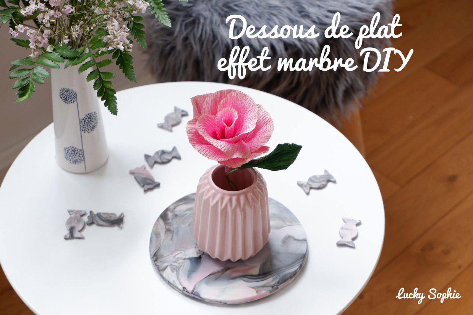Dessous de plat effet marbre DIY
