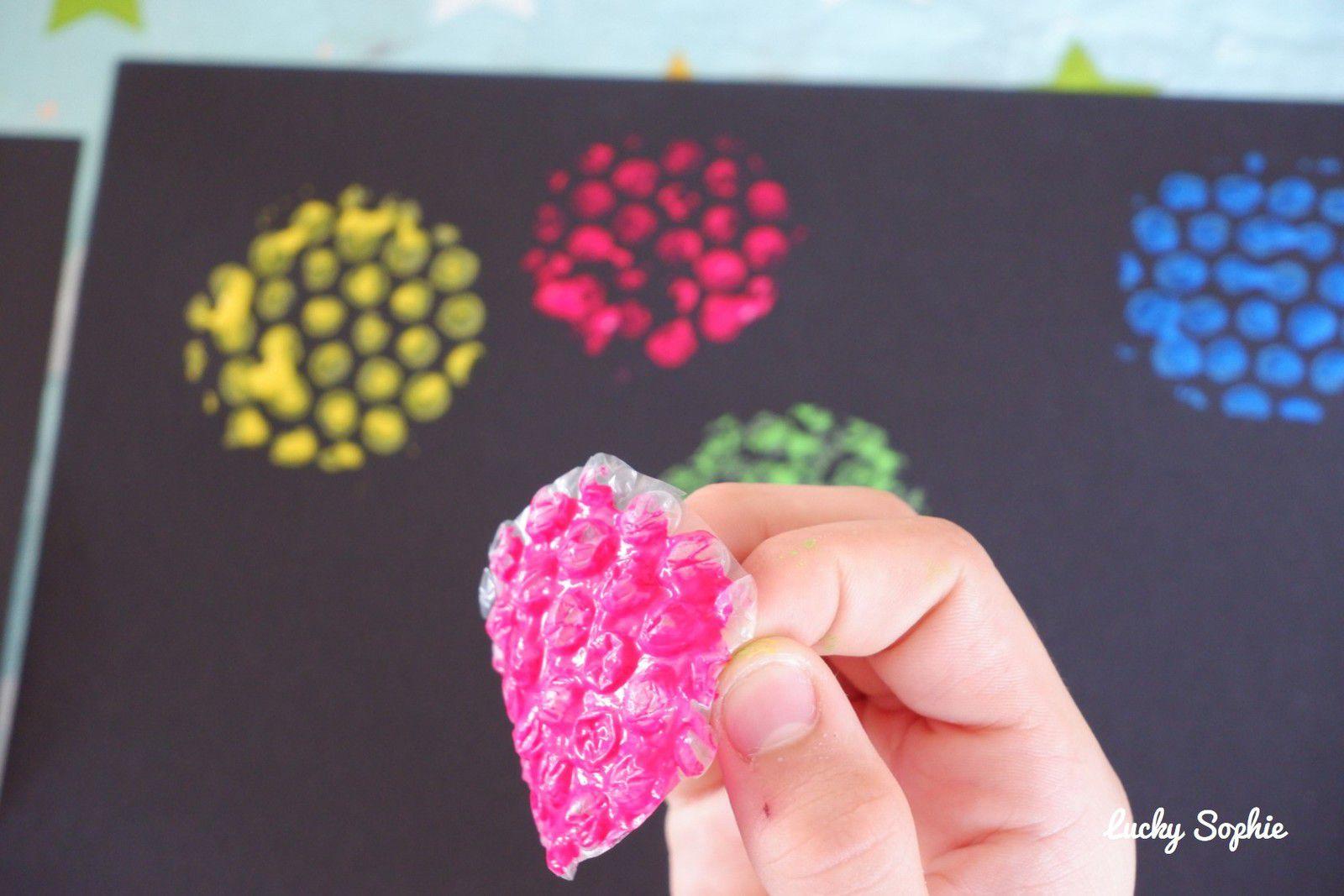 Peindre avec du papier à bulles !