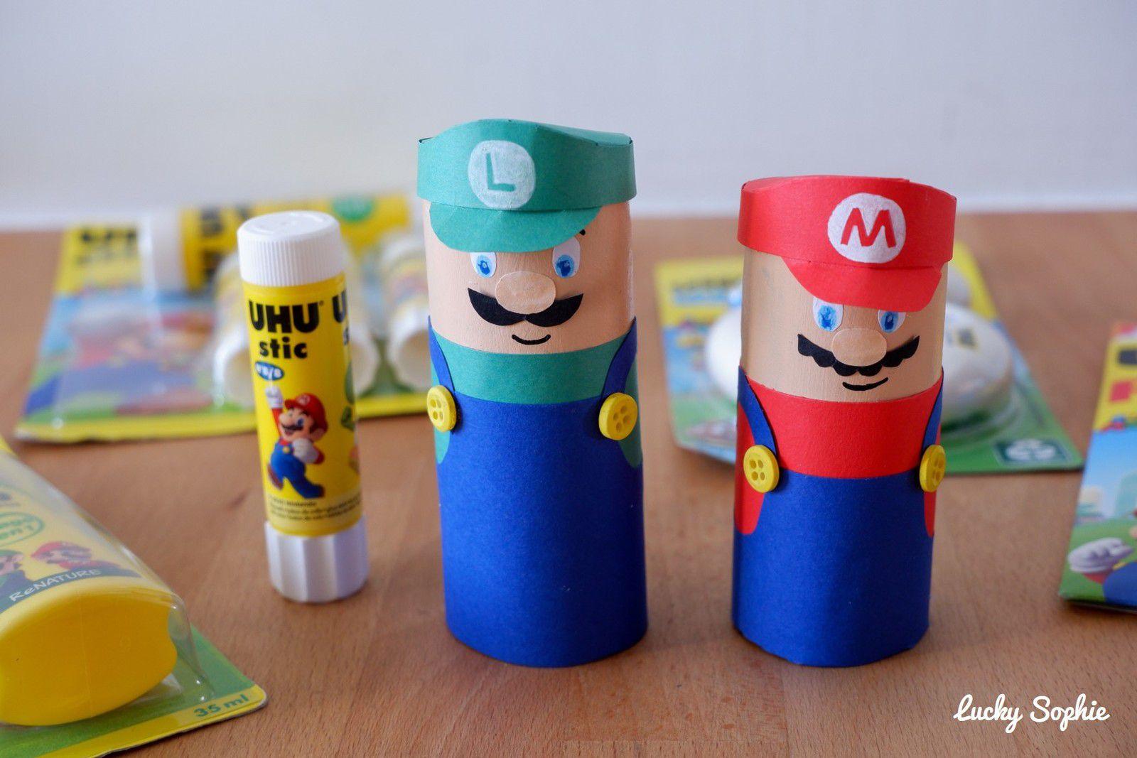 Mario & Luigi en rouleau papier toilette (concours UHU)