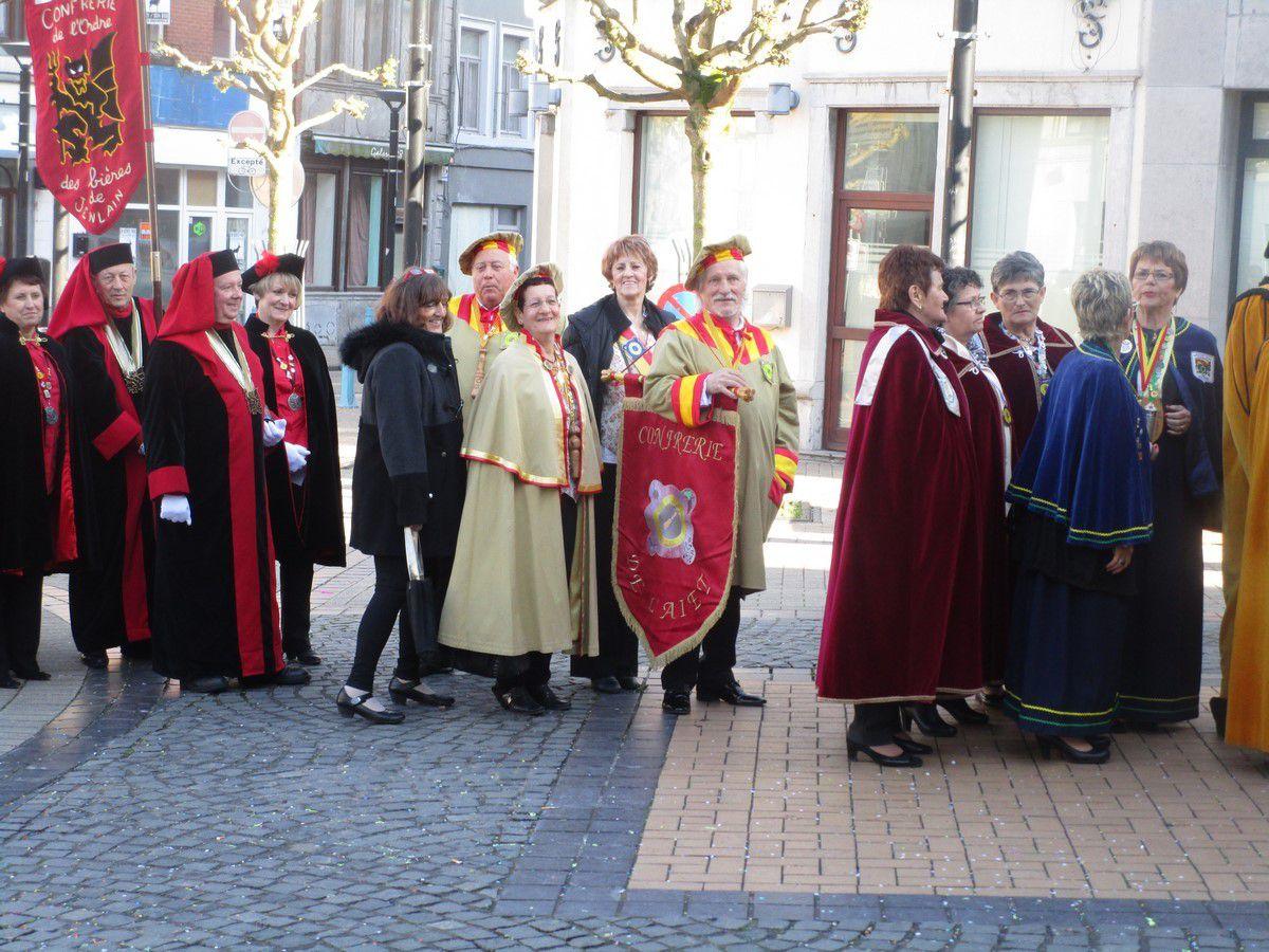 La Confrerie des Chevaliers de l'Aiet Chez nos Amis Belges de FLEURUS