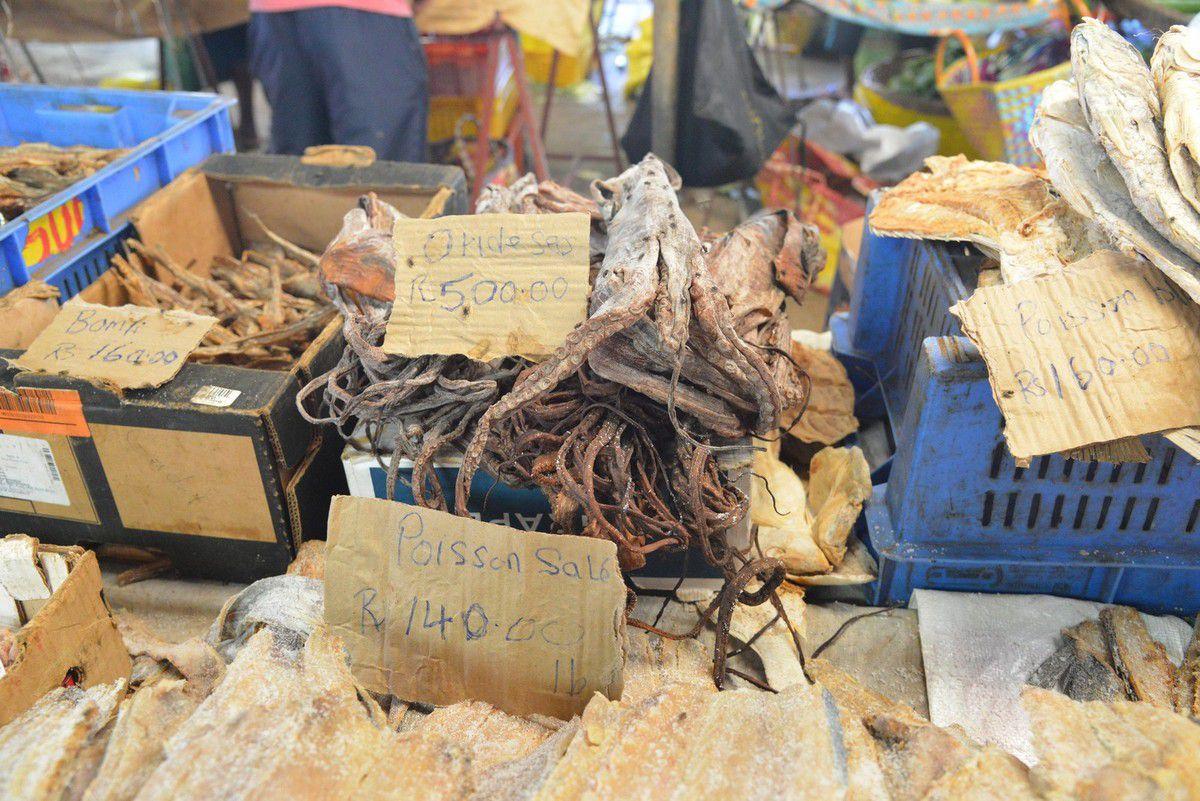 Maurice 2017 : au marché de légumes de Goodlands ...
