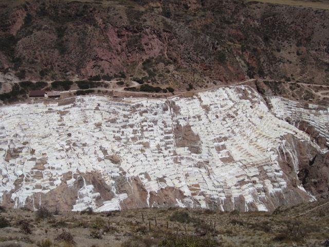 au-dessus des salines de Maras