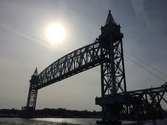 Cape Cod Canal Railroad Bridge, sur le canal qui separe Cape Cod du reste du Massachusetts
