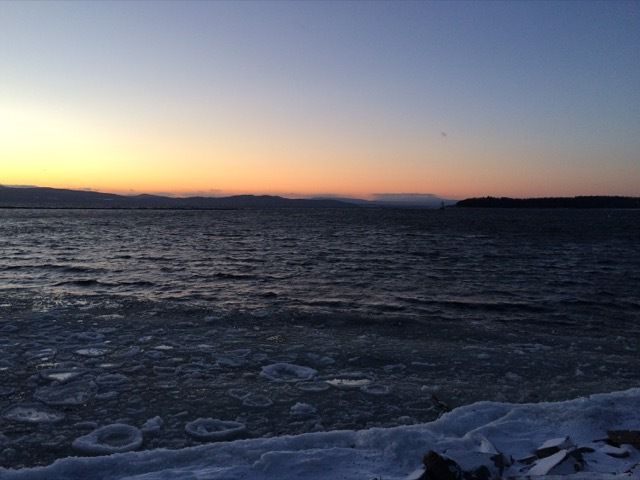 le lac Champlain a Burlington