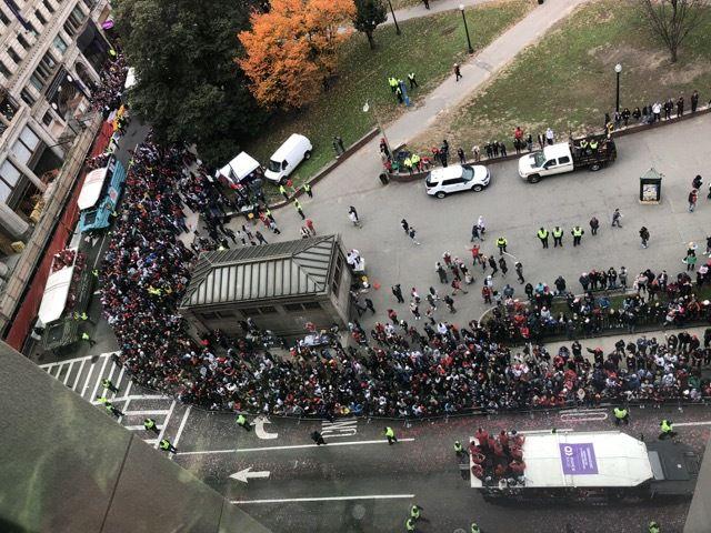 la parade des Red Sox en octobre 2018