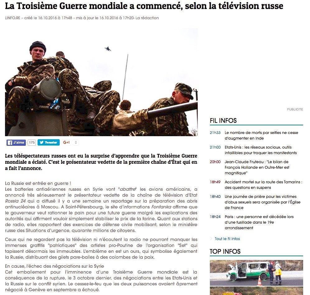 La troisième guerre mondiale française.