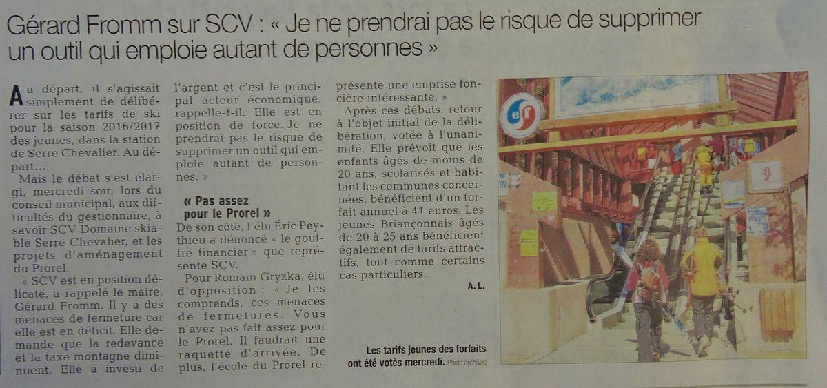 Petite revue de presse 22 & 23/10/2016