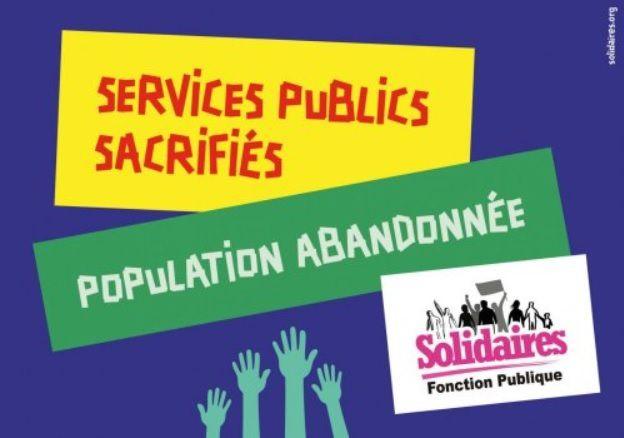 Services publics sacrifiés population abandonnée