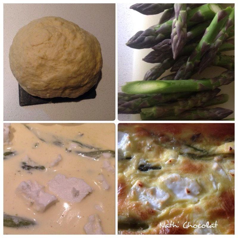 Tarte légère asperges vertes et féta