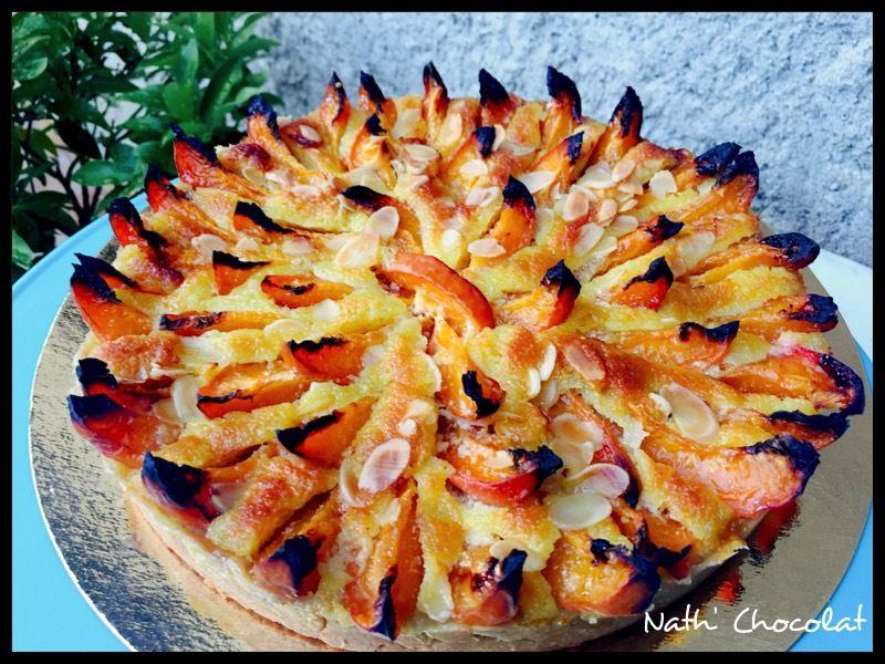 Tarte à l'abricot et amandes