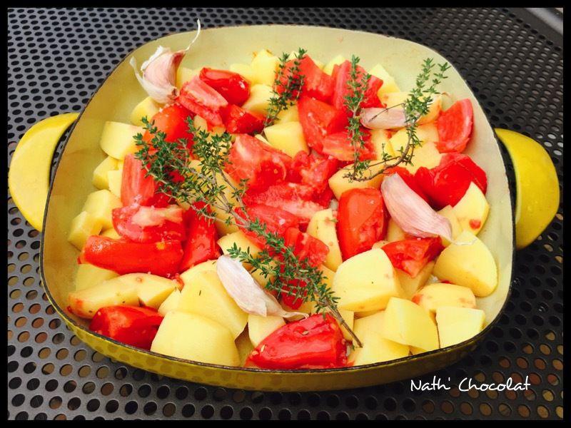 Pommes de terre et tomates