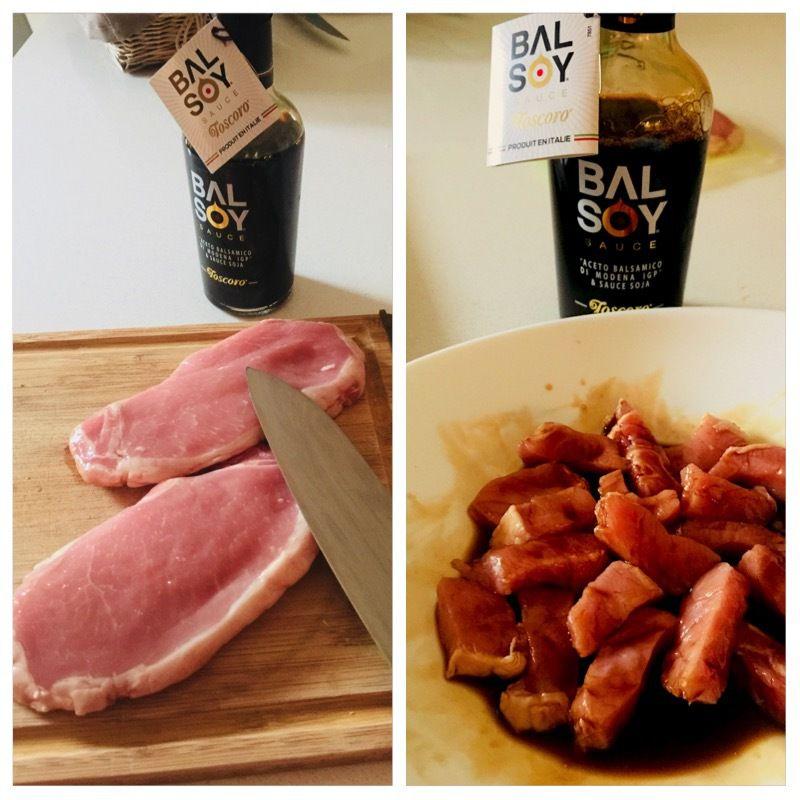 Sauté de porc soja et balsamique