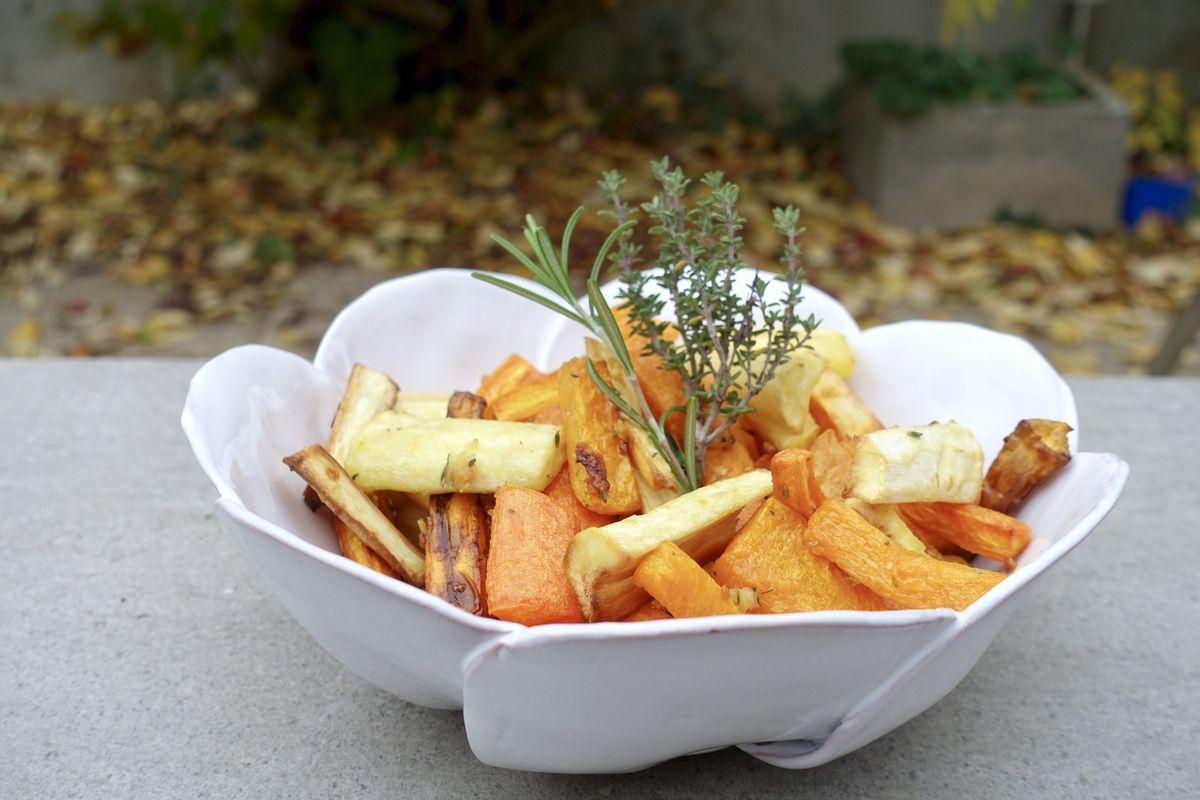 Panais, carottes et butternut au four