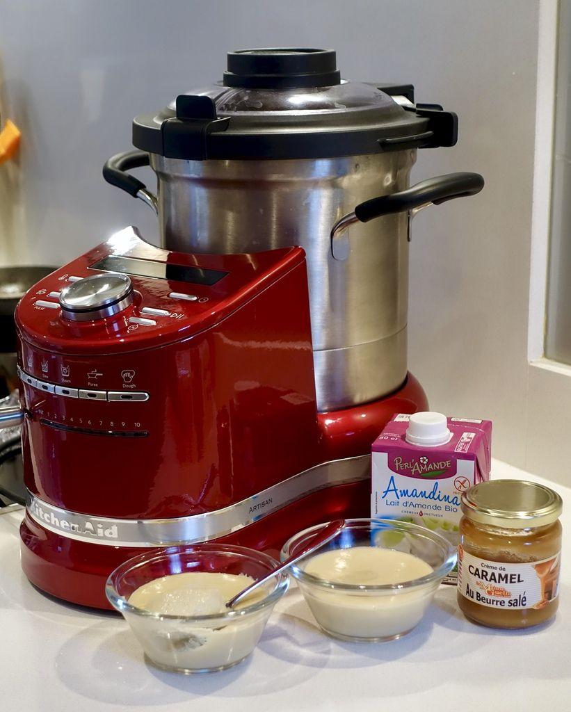 Crème au lait d'amande et caramel au Cook Processor