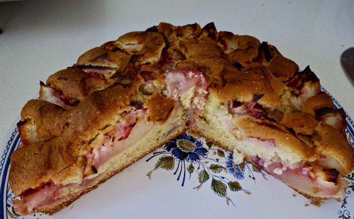 Intérieur du gâteau