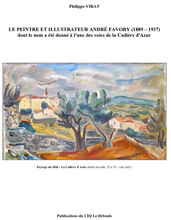 Couverture du fascicule sur le peintre André Favory