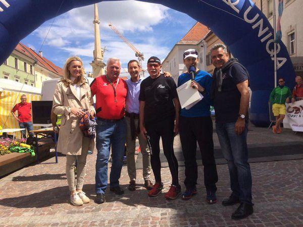 Aldo Maranzina als Botschafter des Alpe-Adria-Ultra-Marathons