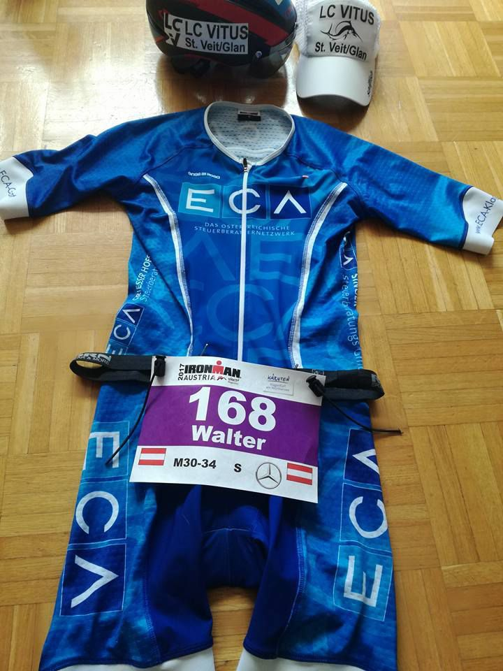 Walter Copi`s Race Suit  Ironman Austria 2017
