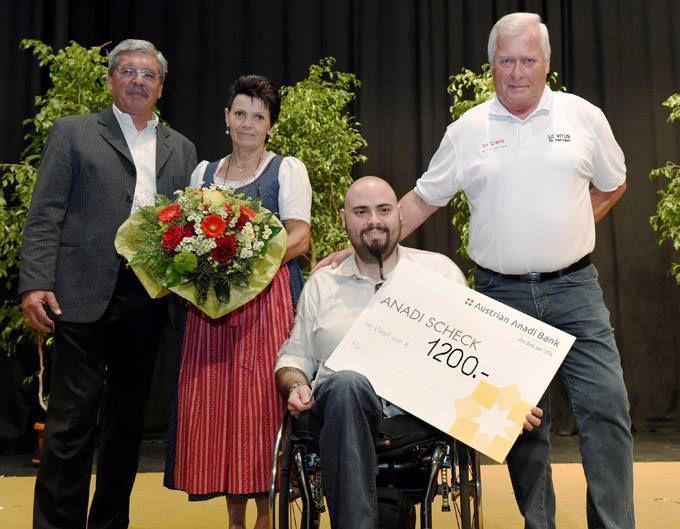 Spendenübergabe an Herrn Dieter Fister