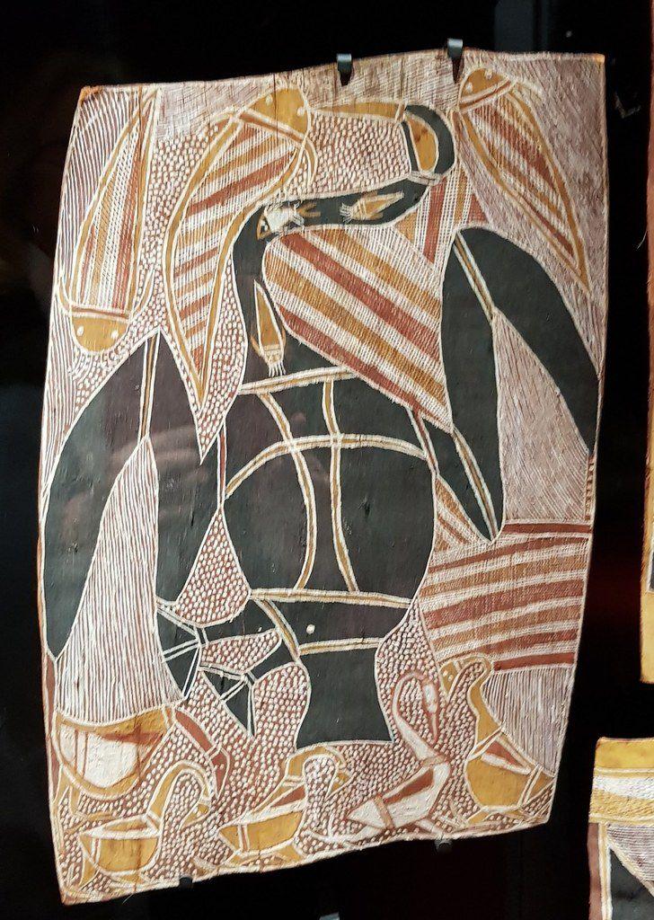 Peintures Aborigènes sur écorce Nord Australie, Musée du quai Branly
