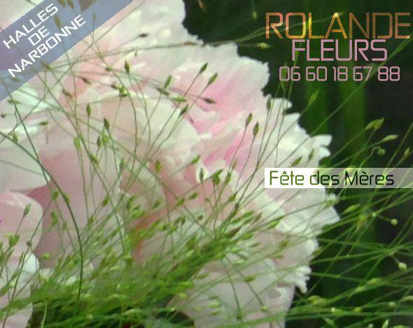 Ville de Narbonne Fête des mères chez Rolande votre fleuriste aux halles en Languedoc Roussillon