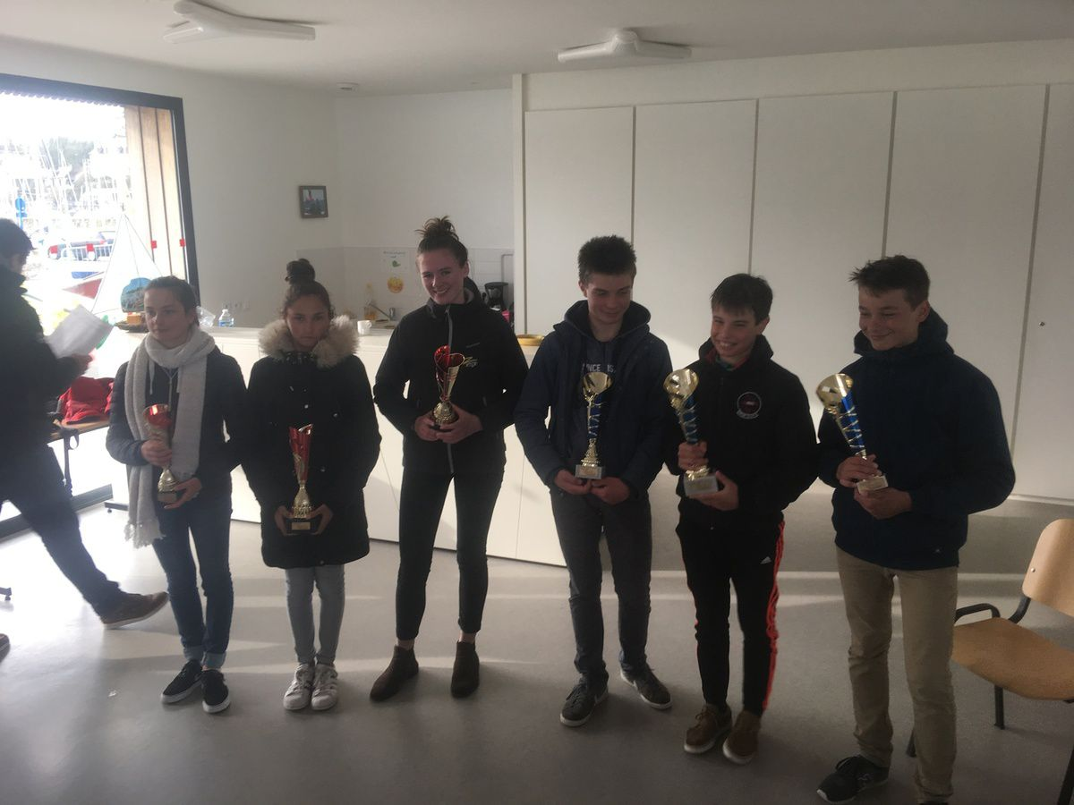 Dimanche 11 mars 2018 : Des podiums à nouveau pour les petits canotiers du LCC