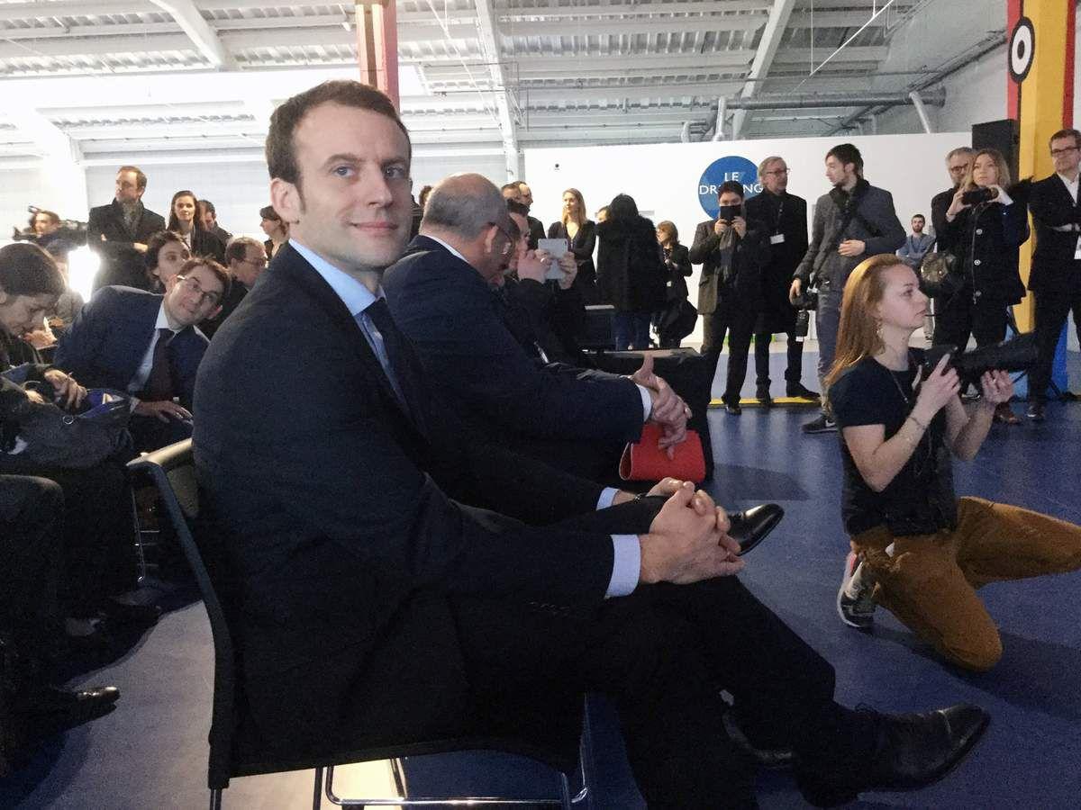 Emmanuel Macron inaugure le campus OVH