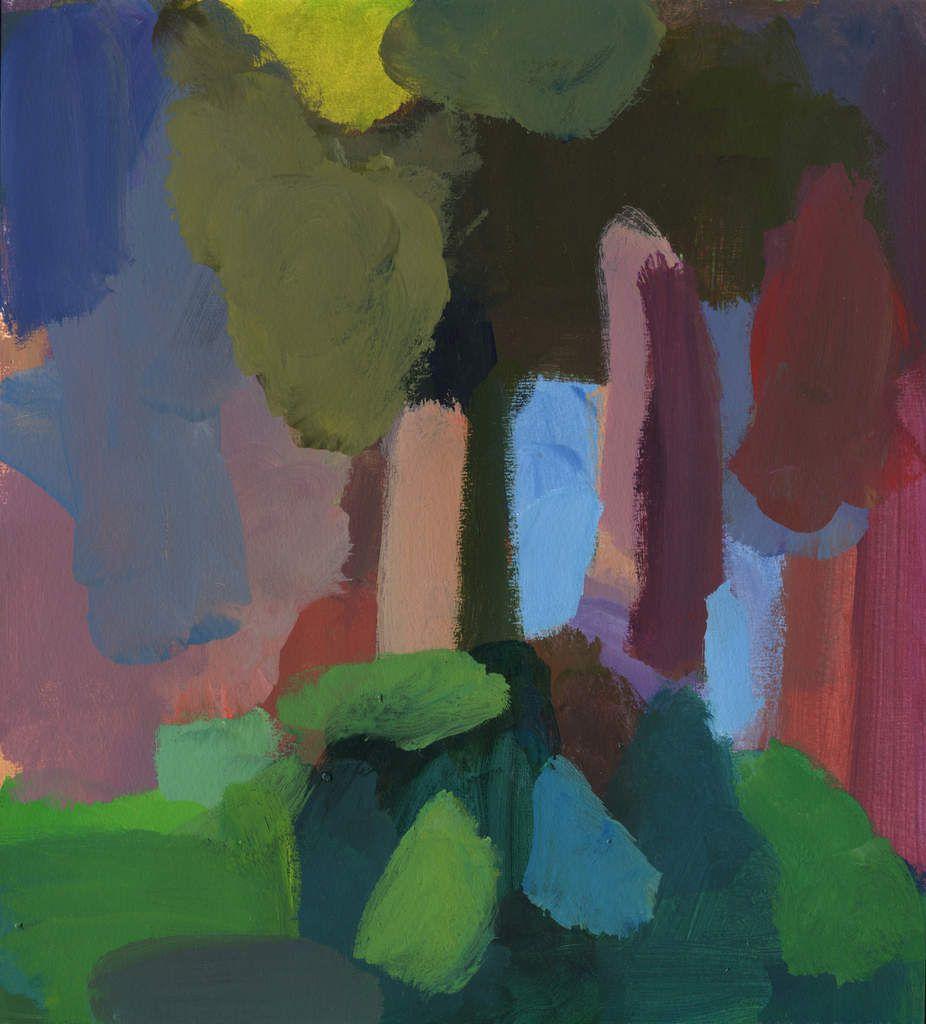 Maumusson, 2014, acrylique sur papier, 32 x 29 cm.