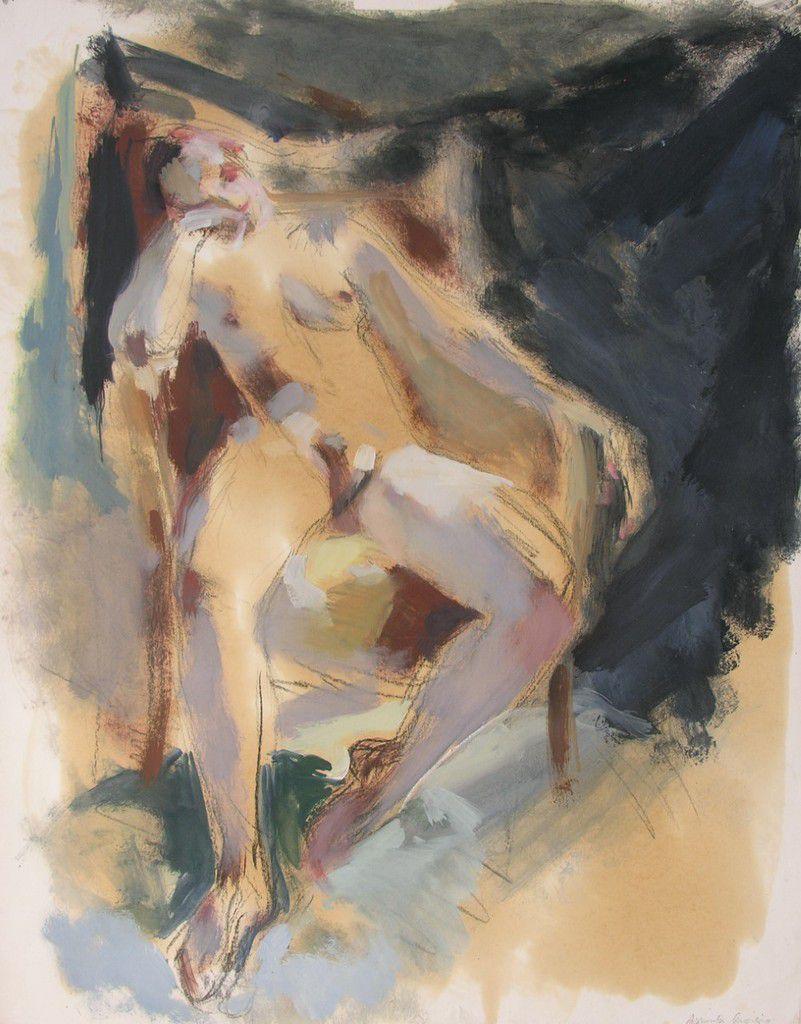 Laetitia, 2009, huile sur papier, 63 x 48 cm.