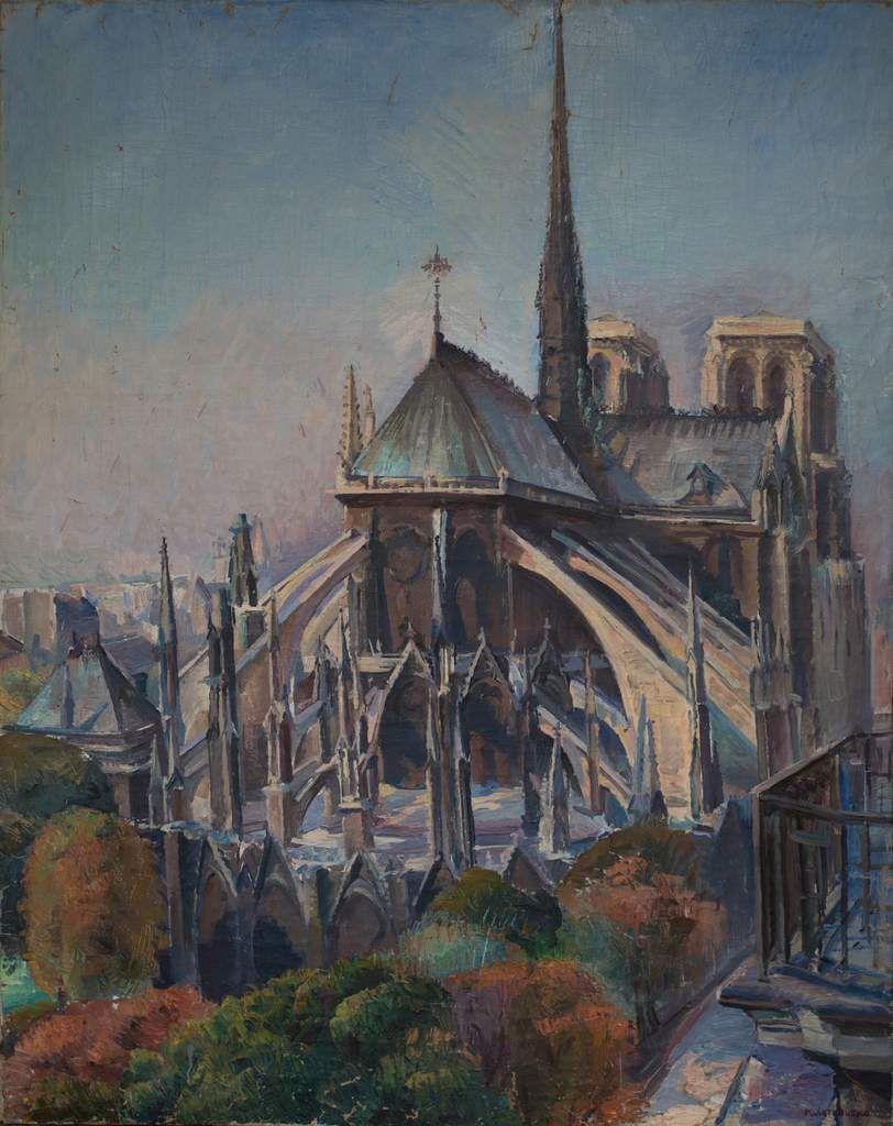 Abside de Notre-Dame de Paris, huile sur toile, 92 x 72,5 cm.