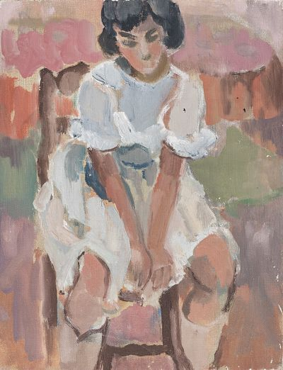 Colette Chasseigneaux (1925 – 2017) La robe blanche