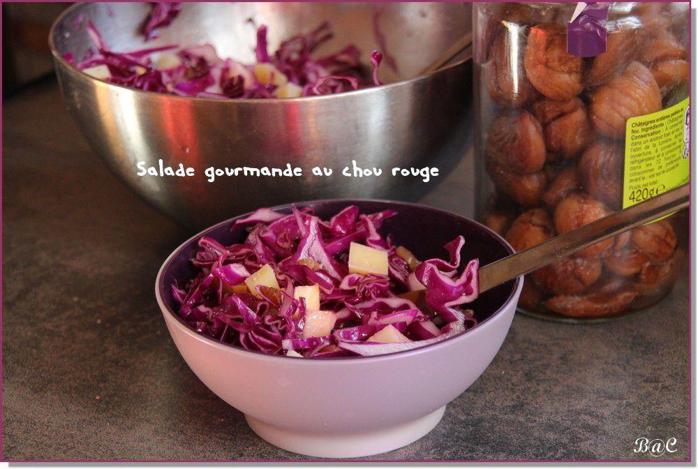 Salade gourmande de chou rouge