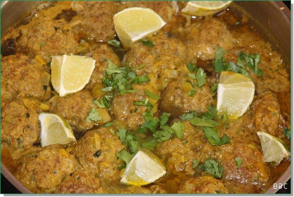 Tagine de keftas aux épices et au citron