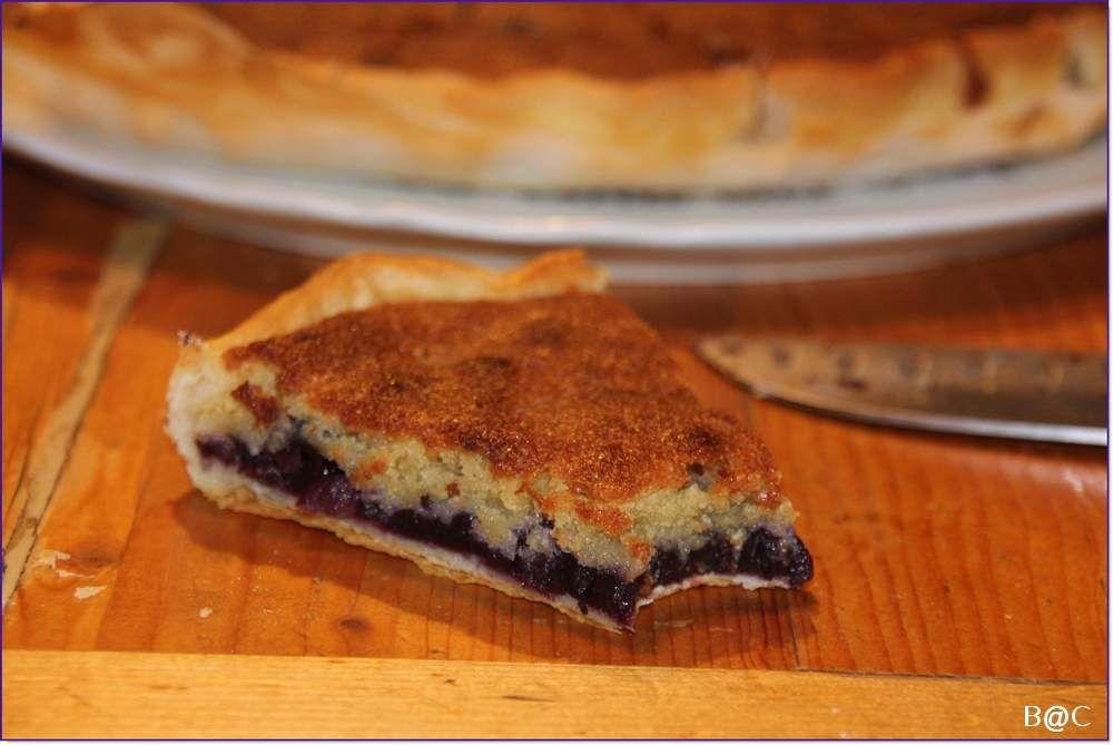 Tarte aux loutres.... L'autre façon de nommer la tarte aux myrtilles et sa crème d'amande!