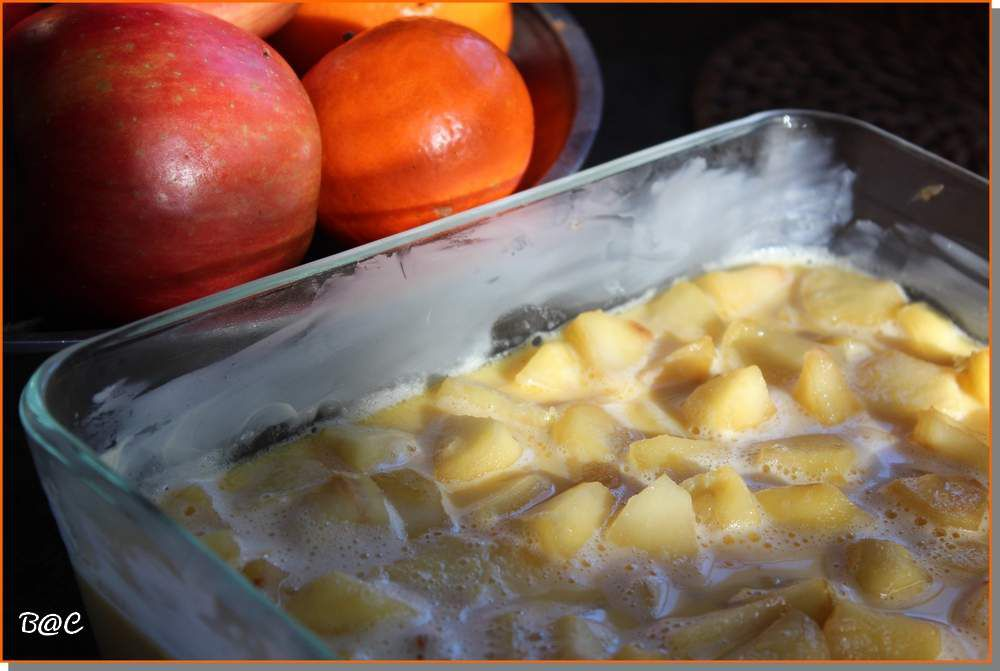 Flognarde aux pommes sans gluten