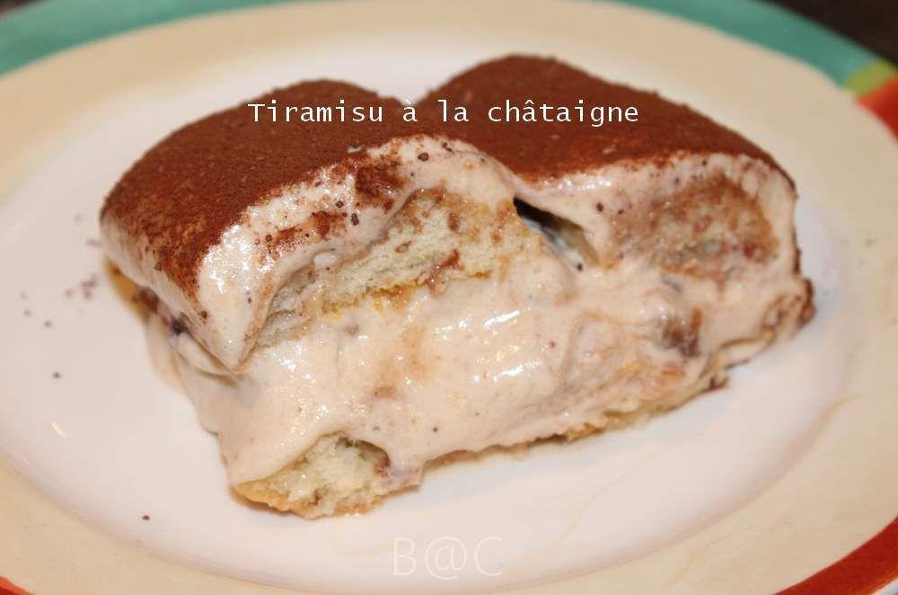Tiramisu à la crème de châtaignes, souvenir de Corse...