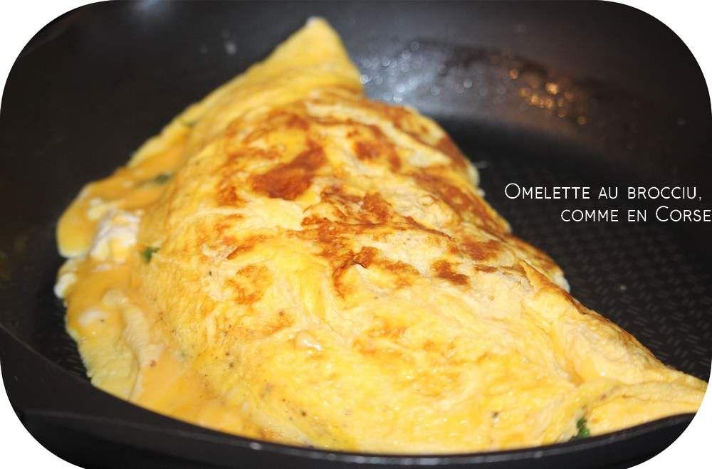 Omelette au Brocciu corse