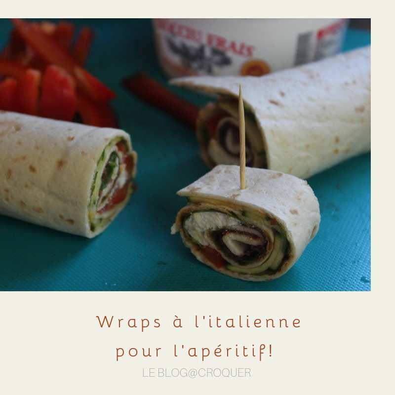 Wraps à l'italienne, courgettes marinées, bresaola, tomates séchées, ricotta...