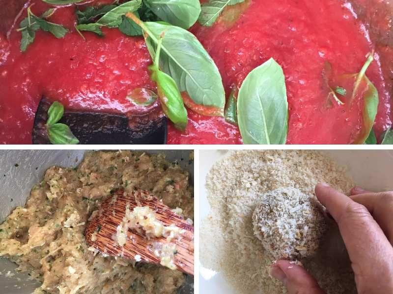 Polpette de poulet, sauce tomate
