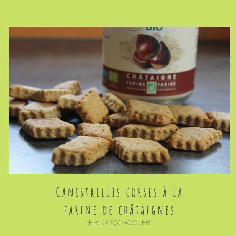 Canistrellis corses à la farine de châtaignes