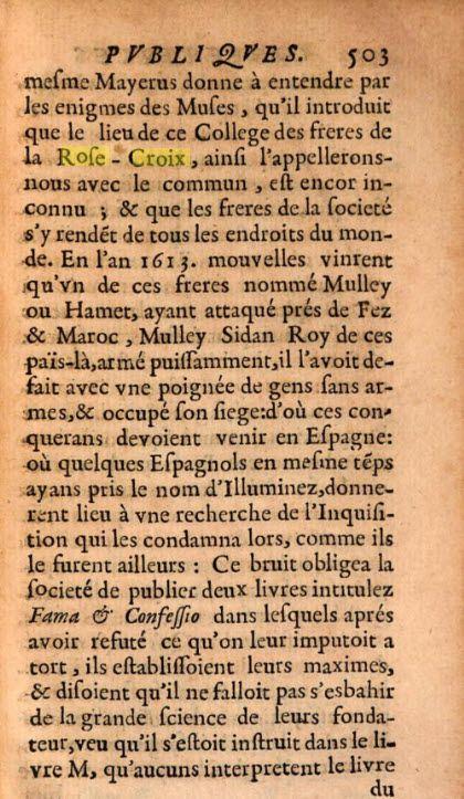 Sur les Frères de la Rose+Croix à Lyon en 1666
