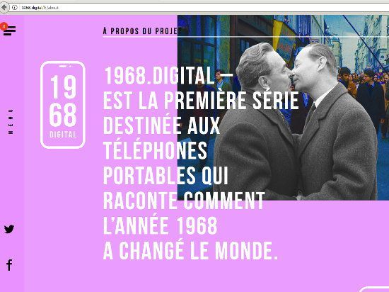 capture d'écran du site web 1968.DIGITAL