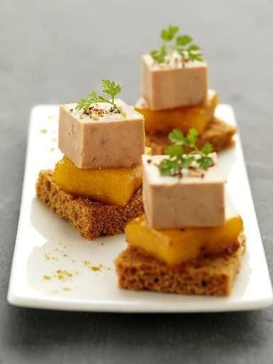 « Bouchées de foie gras à la mangue »