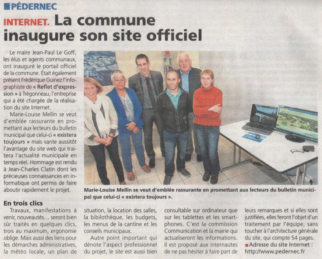 Site internet officiel de Pédernec, articles de Presse