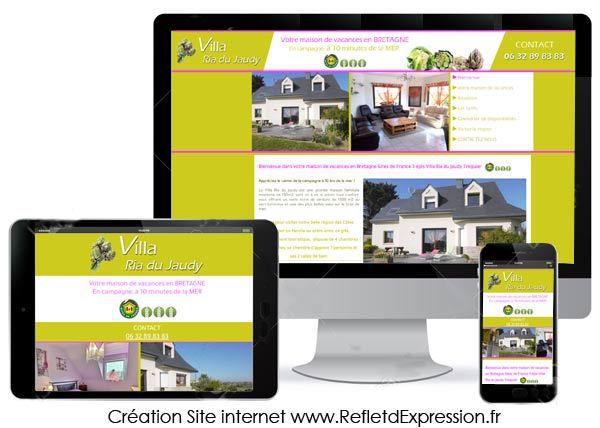 Site internet réalisé par Reflet d'Expression : Villa Ria du Jaudy gite de France maison de vacances hébergement touristique